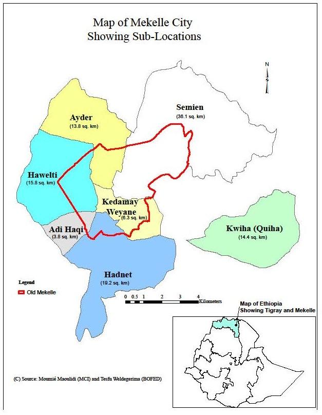 Mekelle Maps Millennium Cities Initiative