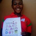 Member of Opoku Ware Girls Club displaying her artwork!
