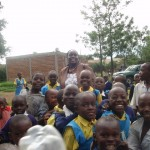 Beldina and Children in one of the schools in Kisumu
